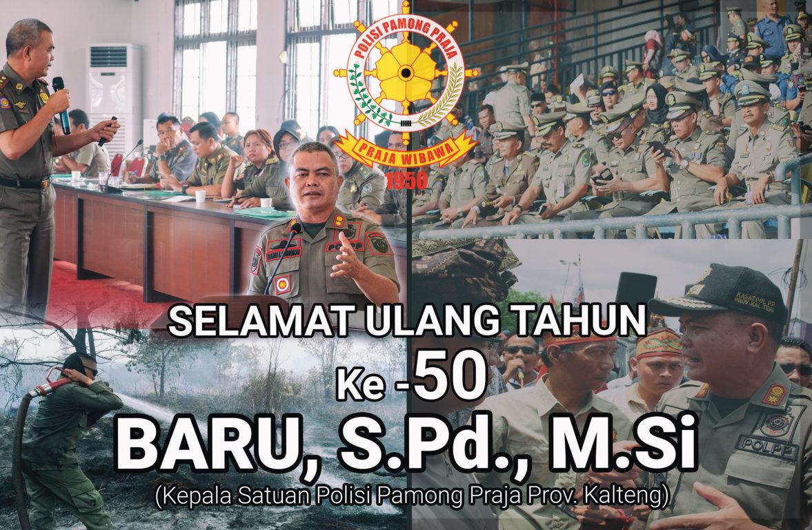 Selamat Ulang Tahun Kepala Satuan Polisi Pamong Praja