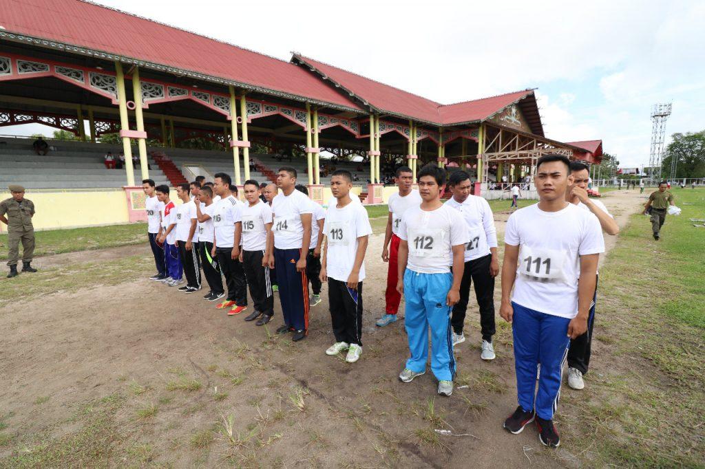 Tes Kesamaptaan Calon Tenaga Kontrak Satpol PP Provinsi Kalimantan Tengah Tahun 2019