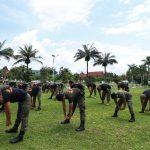 Cegah Covid-19, Satpol PP Provinsi Kalteng Melakukan Kegiatan Olahraga Ringan dan Berjemur