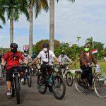 Kasat Pol PP Provinsi Kalteng Gowes Bersama Gubernur H. Sugianto Sabran