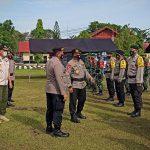 Kasat Pol PP Provinsi Kalteng Mengikuti Apel Gelar Pasukan Pengamanan TPS Pilkada Kalteng 2020