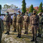 Satpol PP Provinsi Kalteng Ikuti Apel Gelar Pasukan Dalam Rangka Operasi Keselamatan Telabang 2021