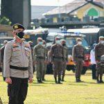 Satpol PP Provinsi Kalteng Ikuti Apel Gabungan Dalam Rangka Implementasi SE Gubernur Kalteng Mengenai Upaya Penanganan Covid-19